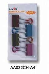 Soft Grip binder clips(metallic color)