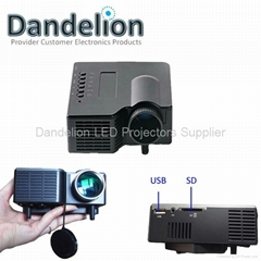 mini projector with USB,SD,AV port great for entertainment and games