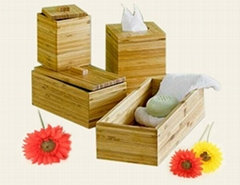 Bamboo bathroom items