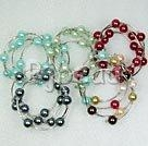 Handmade shell bead bracelet
