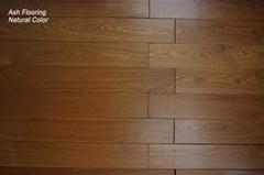 Ash brushed hardwood flooring Stained Color