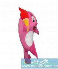 卡通火炬海豚