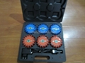 9 in 1 rechargeable hand box containing 6 led flares