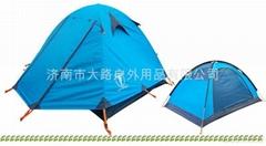 2-3人双层双开门铝杆北极牛帐篷