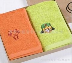 情侣QQ表情广告促销礼品毛巾