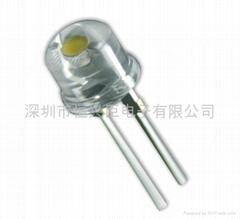 F8mm 白光0.5W LED