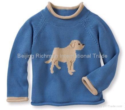 cashmere sweater,Dog Intarsia Cashmere Pullover 1