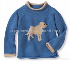 cashmere sweater,Dog Intarsia Cashmere Pullover