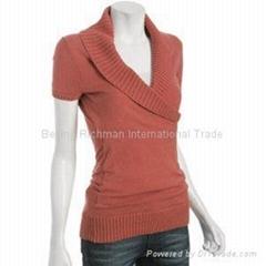 cashmere knitwear, Wrap Shawl Collar Cashmere Sweater