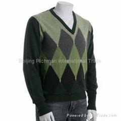 cashmere knitwear, Argyle Cashmere Sweater
