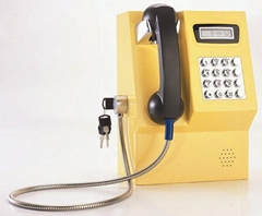 Metal VoIP coin payphone can be used in public place support many countries coin
