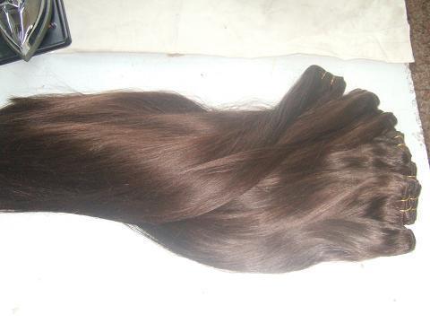 Human Hair Extension : Silky Straight Hair Weaving 1