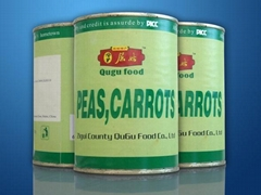 Canned peas carrots