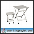 folding aluminum desk with aluminum