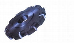 indexable face and side milling cutters with wedge