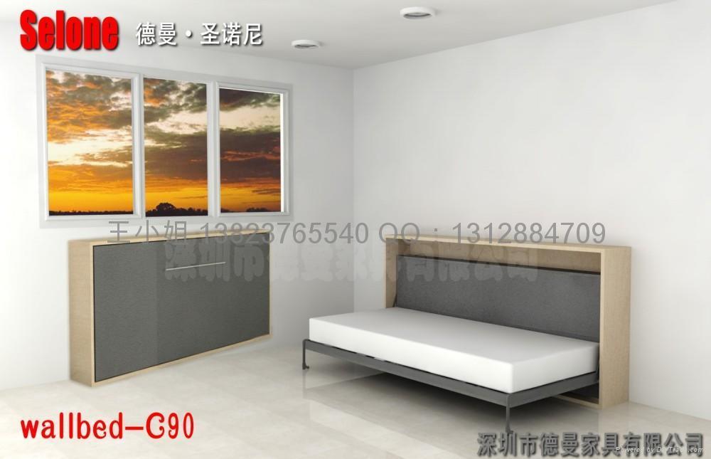 壁床折疊床隱形床五金配件 F120 德曼 183 聖諾尼 中國 生產商 臥室傢具 傢具 產品 「自助貿易」