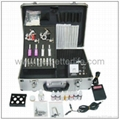 TATTOO KIT 2 GUNS 4 TUBES with GRIPS Needle/ 7 INK WS-K058