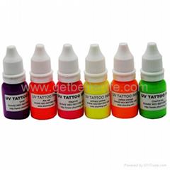 tattoo suplies 12 colors WIZARD BLACKLIGHT UV Tattoo Glow Ink 1/4oz(7.5ml)