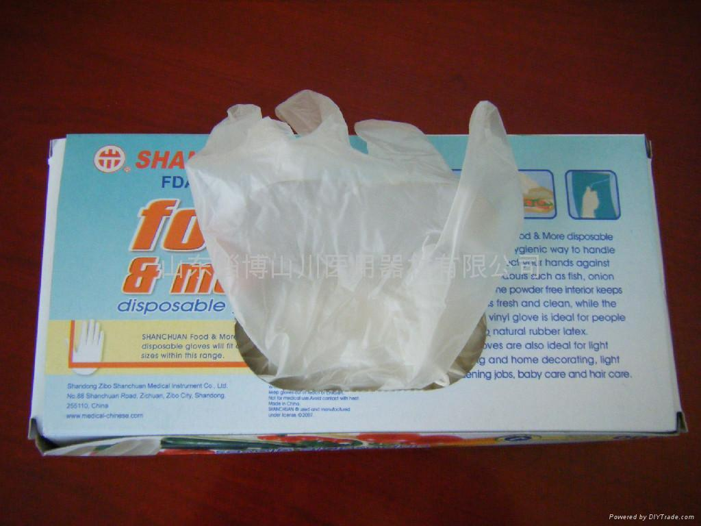 Disposable vinyl gloves s m l xl shanchuan china for Diy plastic gloves