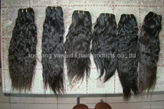 100% remy human hair weft top quality with the full cuticle