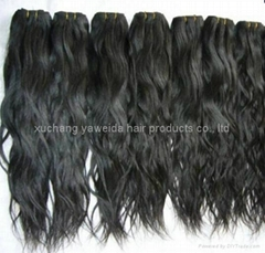 virgin nature indian raw weave/weft hair with full cuticle