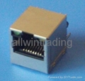 top entry RJ45 jack with led and filter