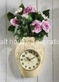 Rose Vase Battery Wall Clock