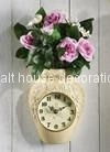 Rose Vase Battery Wall Clock