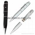 Sell ballpoint laser pointer USB pen memory drive customize logo 2