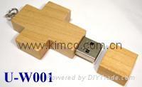 Sell Wooden Bamboo shell USB Flash Drive customize logo