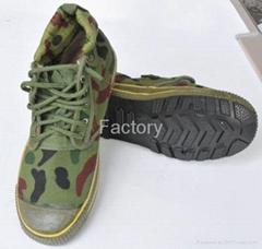 Flexible hight cut Military training shoes