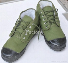 Grass green three defence warm  shoes