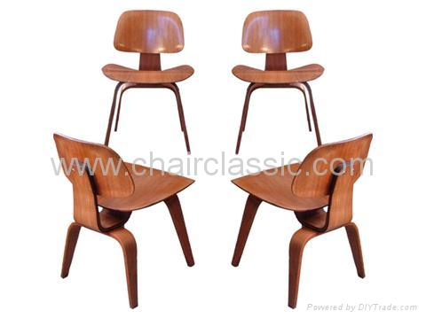 Eames Molded Plywood Dining Chair DCW 1
