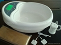 Foot wash basin with infrared ray and