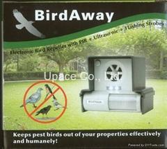 Bird Away  Electronic Bird Repeller with PIR + Ultrasonic + Flashing Strobes
