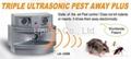 3 speaker Triple Ultrasonic Pest Away Plus  2