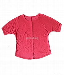ladies t-shirt,knit T-shit,short-sleeved shirt