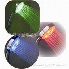 LED 感温变色花洒