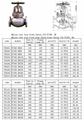 JIS F7305 5K50-400  JIS CAST IRON GLOBE VALVE 5K 1