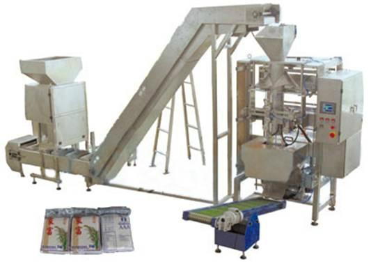 大米抽真空全自動包裝機組 1