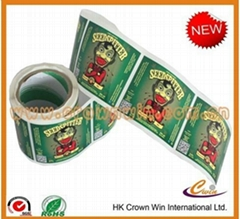 rolled adhesive sticker