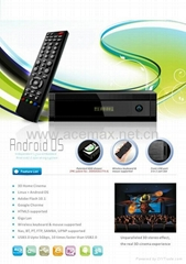 1080P Full HD 1186 3D Android+Linux Build in WIFI, USB 3.0 High Speed  android