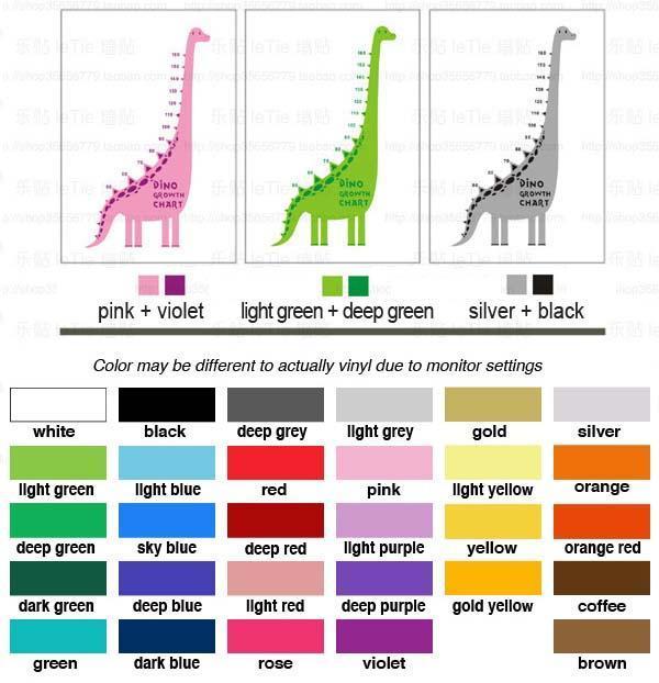 super dinosaur growth chart wall stickers - product catalog - hong