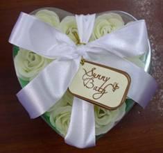 bath confetti,paper soap with rose