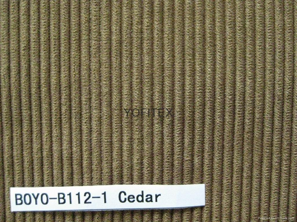 Corduroy Bonded Tc Backing Sofa Fabric Boyo B112