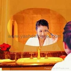 Hotel bathroom mirror heating pad