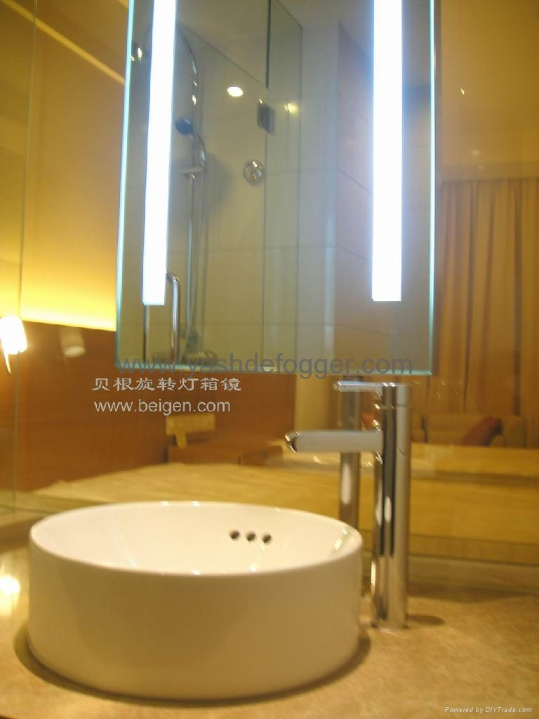 Back lit mirror hotel electric mirror bgl 010 bagen for Mirror hotel