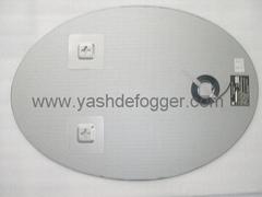 anti-fog mirror system, mirror heating foil