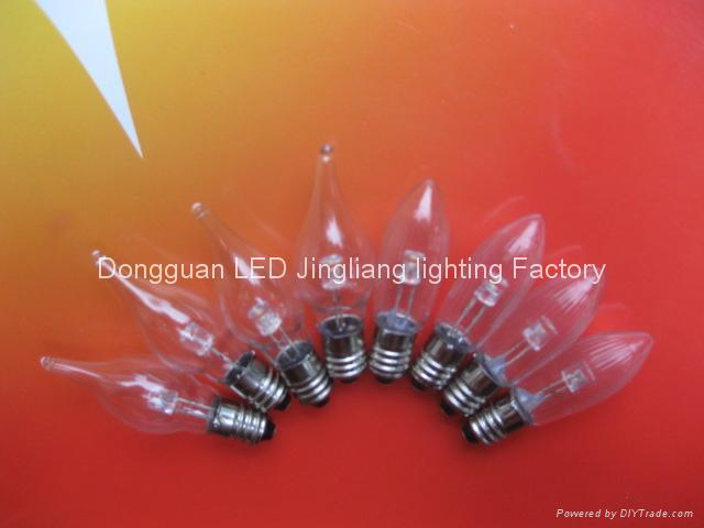 C6 E10 Led miniature tip candle lamps 1