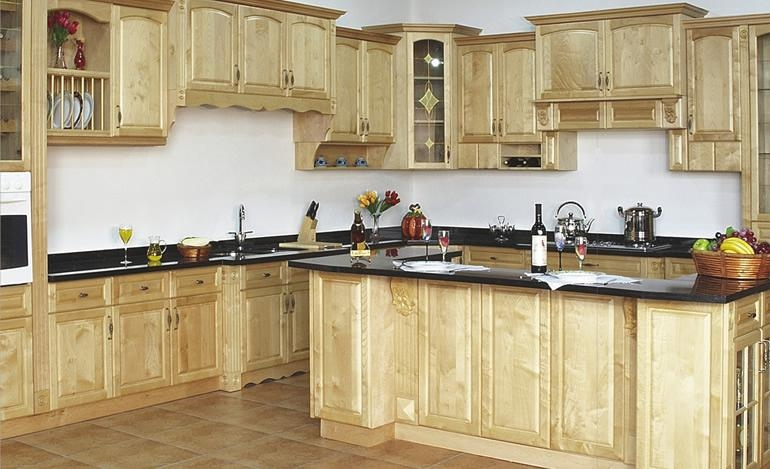 Canada maple Solid Wood Kitchen Cabinet (China Manufacturer